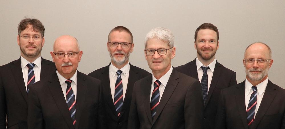 von links: Dr. Christian Dusch, Thomas Schmidt, Dr. Reinhold Brandt, Peter Cleiß, Matthias Löffler, Siegbert Lipps